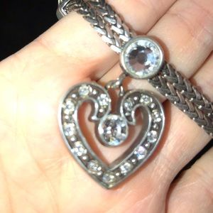 Brighton silver and bling heart bracelet